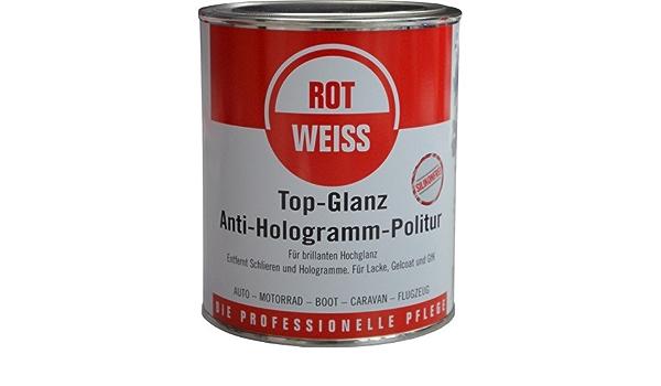 Rotweiss 1 Stück 750ml Anti Hologramm Topglanz Politur 1500 Auto