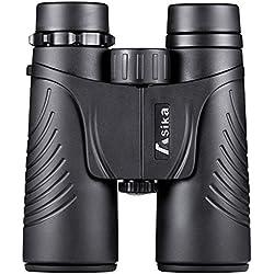 BNISE 10x42 Binoculares, Ocular Grande y gran Objetivo de alta Definición, Lentes ópticas puras, Aptas para Observación de aves, Conciertos y turismo al aire libre