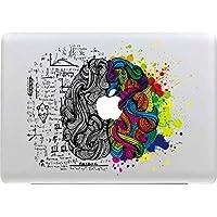 Sticker Adhesivos Macbook, Stillshine Desprendibles Creativo Colorido Art Calcomanía Pegatina para Apple MacBook Pro / Air 13 Pulgadas (Cerebro Izquierdo y Derecho)