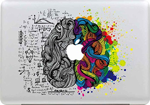 Sticker Adhesivos Macbook, Stillshine Desprendibles Creativo Colorido Art Calcomanía Pegatina para Apple MacBook Pro / Air 13 Pulgadas (Cerebro Izquierdo y Derecho)