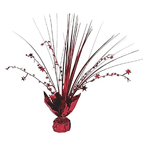 Amscan 12-inch Foil Spray Centrepiece Party Accessory, Red