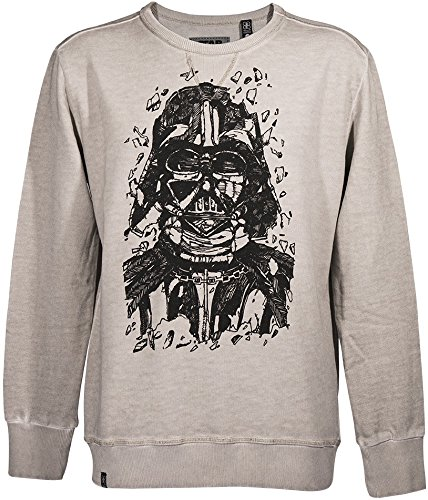 GOZOO Star Wars Classic Sweater Uomo Darth Vader Pencraft Oat Meal M