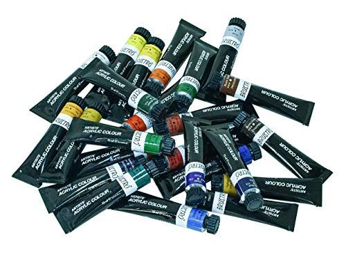BRUSTRO Artists' Acrylic Colour Set of 24 Colours X 12ML Tubes