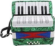 Yoyakie Acordeón De 17 Teclas 8 Instrumento Musical del Juguete Educativo Acordeón Mini Pequeño para Los Niños