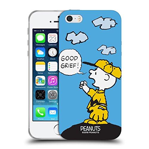 Head Case Designs Ufficiale Peanuts Oh Santo Cielo Charlie Brown Cover Morbida in Gel per iPhone 5 iPhone 5s iPhone SE