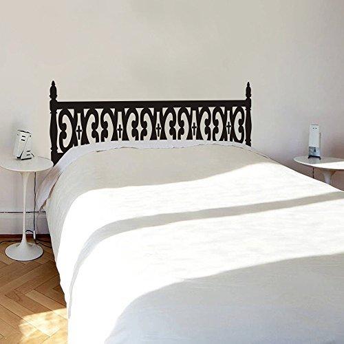 chambre-sticker-mural-tete-de-lit-pour-lit-en-bois-sculpte-mur-en-noir-king-size