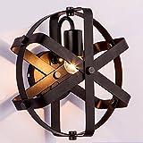 GAOWORD Lampada Da Parete In Ferro Antico Personalità Creativa Rotonda Palla Da Parete Luci Soggiorno Bar, Non Contengono Lampadine