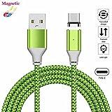 USB Typ-C Magnet Kabel superior ZRL® Strapazierfähiges Nylon geflochtene Ladung USB Typ C Kabel Sync Datenkabel Ladekabel für Samsung Galaxy Note 8 S8 Plus, LG V20 G5 G6, HTC 10 und mehr (1M, 2M, 3M)
