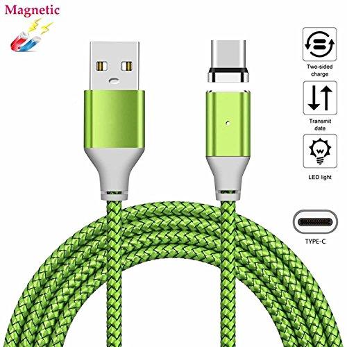 Samsung Magnet (USB Typ-C Magnet Kabel superior ZRL® Strapazierfähiges Nylon geflochtene Ladung USB Typ C Kabel Sync Datenkabel Ladekabel für Samsung Galaxy Note 8 S8 Plus, LG V20 G5 G6, HTC 10 und mehr (1M, 2M, 3M))
