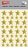 Apli Gommettes étoile Ø12 et 20 mm Doré x 120 Agipa