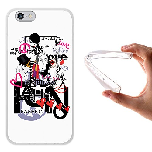 WoowCase Hülle Case für { iPhone 6 6S } Handy Cover Schutzhülle Gehirn, Musik und Wissenschaft Hülle iPhone 6 6S iPhone 6 6S D0362