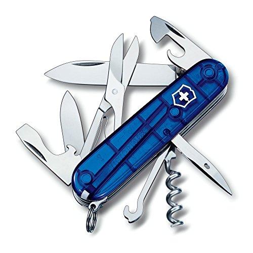 Preisvergleich Produktbild Victorinox Schweizer Taschenmesser Anzahl Funktionen 14 Climber 1.3703.T2 Blau (transparent)