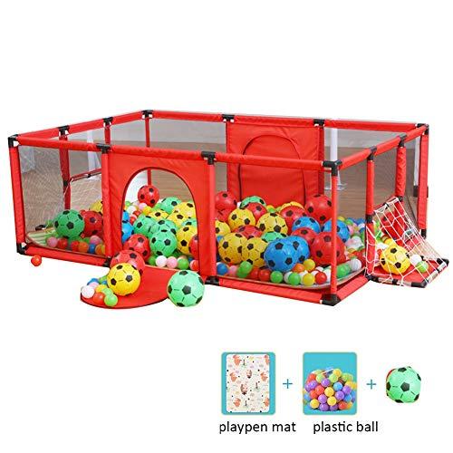 LIANGJUN Parque Infantil Bebe Centro De Actividades para Niños La Seguridad Antideslizante Juegos Caja De Futbol Bola De Plástico Estera De Arrastre, 62cm De Alto