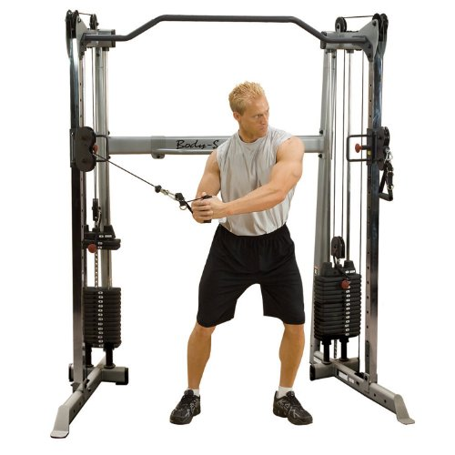 BODY-SOLID GDCC-200 Functional Training Center Cable Crossover Multi-Kabelzug Kraftstation