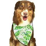 Hipiyoled Grünes, gelbes Blätter-Muster-stilvoller Haustier-Hund-Katze Bandana Halstuch-Halstuch-Schal