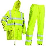Lyngsoe LR60552-53-S Pantalon et Blouson de pluie Taille S Fluo Jaune