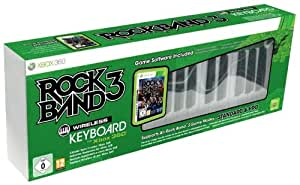 Clavier Pro Rock Band 3 sans fil  + jeu Rock Band 3