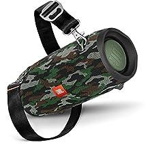 JBL Xtreme 2 Speaker Bluetooth Portatile, Cassa Altoparlante BT Waterproof IPX7, Con Microfono, Porta USB, JBL Connect+ e Bass Radiator, Fino a 15h di Autonomia, Mimetico