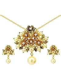 Tistabene Retails Floral Antique Designer Stylish Fancy Party Wear Pendant Set For Girls And Women (PS-0600)