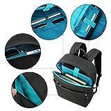 REYLEO Zaino per computer portatile 15.6'' Backpack Laptop Borsa Impermeabile Uomo e Donna per scuola e ufficio ( Nero )