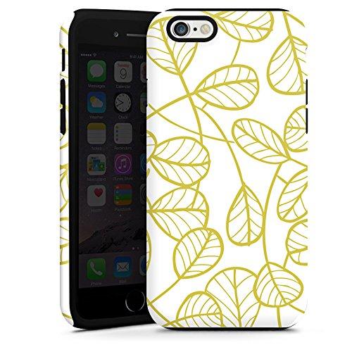 Apple iPhone 6 Housse Étui Silicone Coque Protection Feuilles Plantes Plantes Cas Tough terne