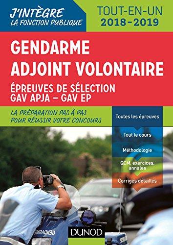Gendarme adjoint volontaire - 2018-2019 - Epreuves de slection GAV - Catgorie C Tout en un: Epreuves de slection GAV - Catgorie C - Tout-en-un