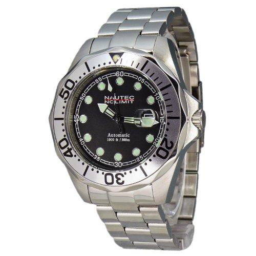 Nautec No Limit Herren-Armbanduhr Deep Sea Bravo DSB AT/STSTSLBK