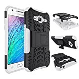 MYTHOLLOGY Galaxy J3 Coque - Samsung Galaxy J3 (2016) J320F Coque - Coque Antichocs Video Béquille Double Couche Protection Etui Housse Cover [Blanc]