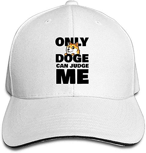 angwenkuanku Baseball Caps Doge Can Judge Me Unisex Sandwich Cap Trucker Hat Gorgeous31928