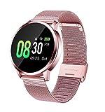 GOKOO Montre Connectée Femmes Smartwatch Sport Bracelet Connecté Étanche Pink...
