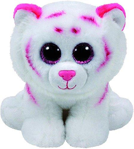 TY - Beanie Babies Tabor, tigre, 15 cm, color blanco / rosa (United La