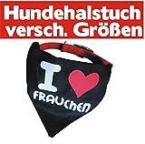 Special-Petshop Halstuch mit Halsband * i love Frauchen * Größe M handmade