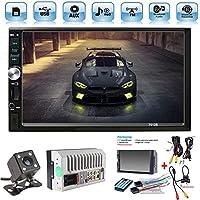 X-REAKO Radio de Coche 2 DIN Car Stereo de 7 Pulgadas HD Pantalla T/áctil Bluetooth Manos Libres Radio Auto FM//Am//USB//AUX IN Mirror Link con c/ámara de visi/ón Trasera