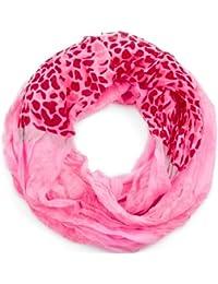 style3 Leichter Sommer-Schal Loop mit Blumen-Muster und Neon-Farben