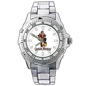 NEW Uhren Armbanduhren Edelstahl Geschenk Weihnachten EPSP66 Captain Morgan Rum Stainless Steel Wrist Watch