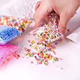 Fepito 35 Pack Craft Slime Making Kits Fruit Slime Crunchy Slime Foam Slime Accessories Including Slime Box Fishbowl Beads Glitter Fruit Slices Foam Beads for Slime DIY (Contain No Slime)