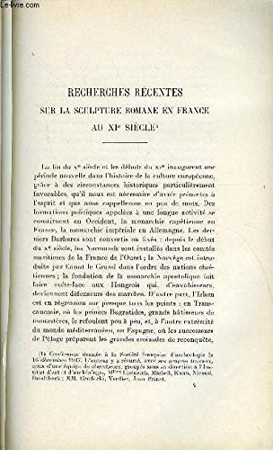 BULLETIN MONUMENTAL 97e VOLUME DE LA COLLECTION N°1 - RECHERCHES RECENTES SUR LA SCULTPURE ROMANE EN FRANCE AU XIe SIECLE PAR HENRI FOCILLON