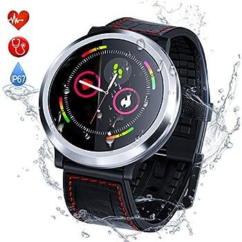 Montre Connectée Intelligent Smartwatch Bluetooth Zagzog,Podomètre Bracelet Connecté Fitness Tracker dActivité Moniteur de Sommeil SMS Appel,Étanche IP67 ...