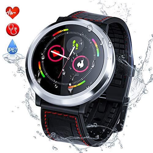 Zagzog Smart Watch Bluetooth Sport Watch Touch Control IP67 Waterproof Health Care Heart Rate&Sleep Monitor Message Reminder Stopwatch Pedometer Bracelet Wristband Calorie Tracker for iOS Android