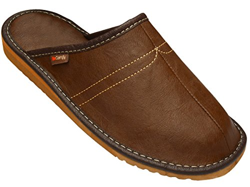 BeComfy Chaussures en Cuir pour Homme Chaussons Mules...