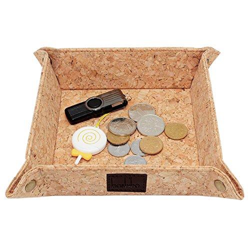 boshiho Corcho Jewelry CatchAll Clave Caja Monedero EDC Valet Bandeja Cambio Caddy mesilla Eco-Friendly de Almacenamiento de Caja de Regalo