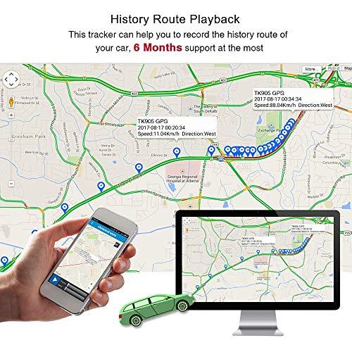 51IbEfZkORL - TKSTAR Localizador gps para coche , Magnético fuerte Rastreador GPS , Vehículos Monitoreo Sistema en Tiempo Real , Anti perdido Dispositivo impermeable gps tracker con gratis APP para Smartphone TK905