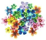 Set di 30topper per cupcake commestibili, decorazioni per torta nuziale e feste di compleanno, dimensioni e colori misti Flower