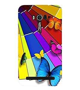 Printvisa Assorted Butterfly Pattern Back Case Cover for Asus Zenfone Go::Asus Zenfone Go ZC500TG
