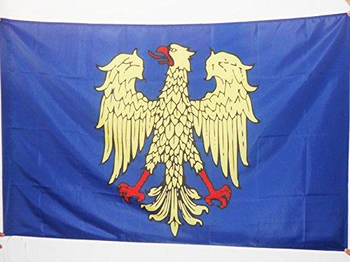 AZ FLAG Flagge FRIAUL-JULISCH VENETIEN 90x60cm - Friuli-Venezia Giulia IN Italien Fahne 60 x 90 cm Scheide für Mast - Flaggen Top Qualität