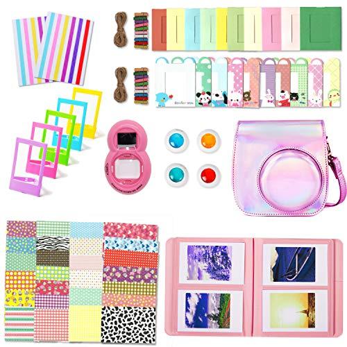 Leebotree Accessoires Compatible avec Appareil Photo Instax Mini 9, Mini 8/8+, Le Package Comprend étui,Album, lentille, filtres, Cadres et Autres (Rose Magique)