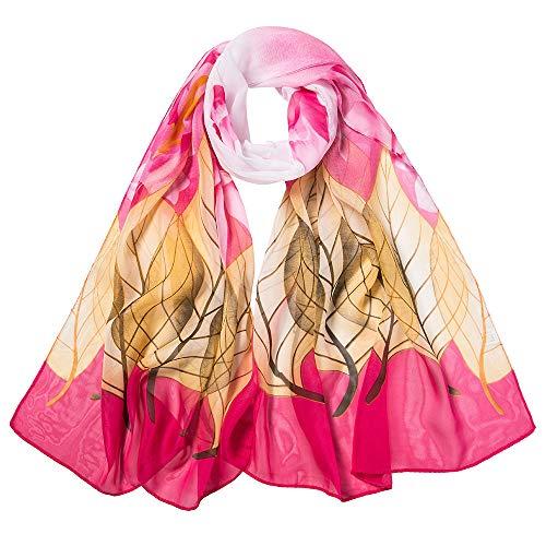 ALIKEEY Moda Mujeres Hojas Impresión Larga Suave Abrigo Bufanda Señoras Chal Bufandas...