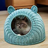 AYQ Schlafplätze Möbel Betten Rattan-Made Coole Katze Haus Sommer Geschlossen Bett Haustier Hund Nest Lieferungen Vier Jahreszeiten Universal