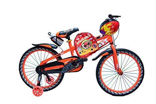 Xeo Kinder-Fahrrad, Luxuriöses Rad für Jungen und Mädchen, Pink und Orange, Größen 30,5cm 40,6cm 50,8cm (12Zoll, 16Zoll, 20Zoll), LED-Effekt, verstellbar, Orange, 40,6 cm