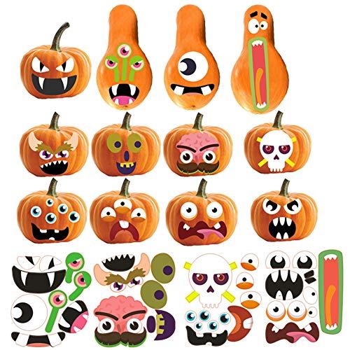 AMOYER 1 Satz Halloween-Bevorzugungen Aufkleber Trick Oder Leckerei Kürbis-Aufkleber Für Partei DIY Dekorationen Für Selbstklebende Etiketten Sealing Dekoration